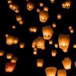 8 Pack of Floating Wishing Lanterns - $17 with FREE Shipping!